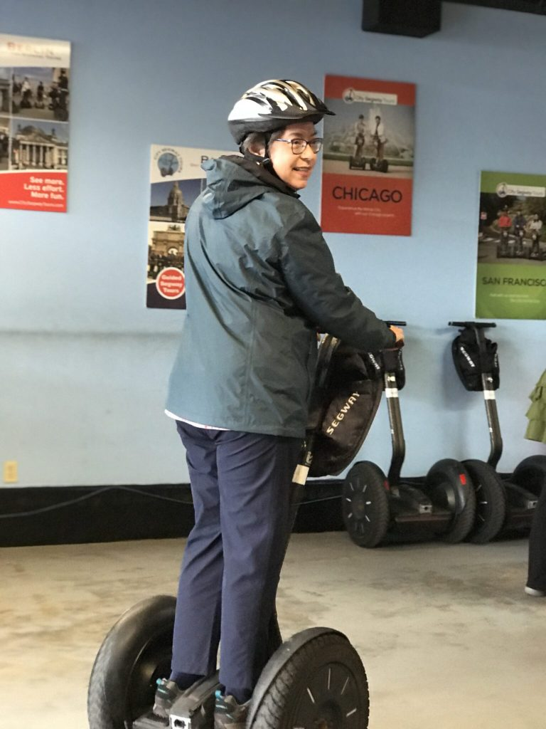 woman on Segway inside city Segway tours New Orleans