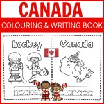Bright Canada Colouring and Writing Book