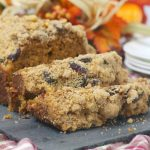 Comforting Cranberry Walnut Pumpkin Bread Topped with Streusel