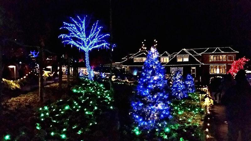 Butchart Gardens In Victoria BC At Christmas