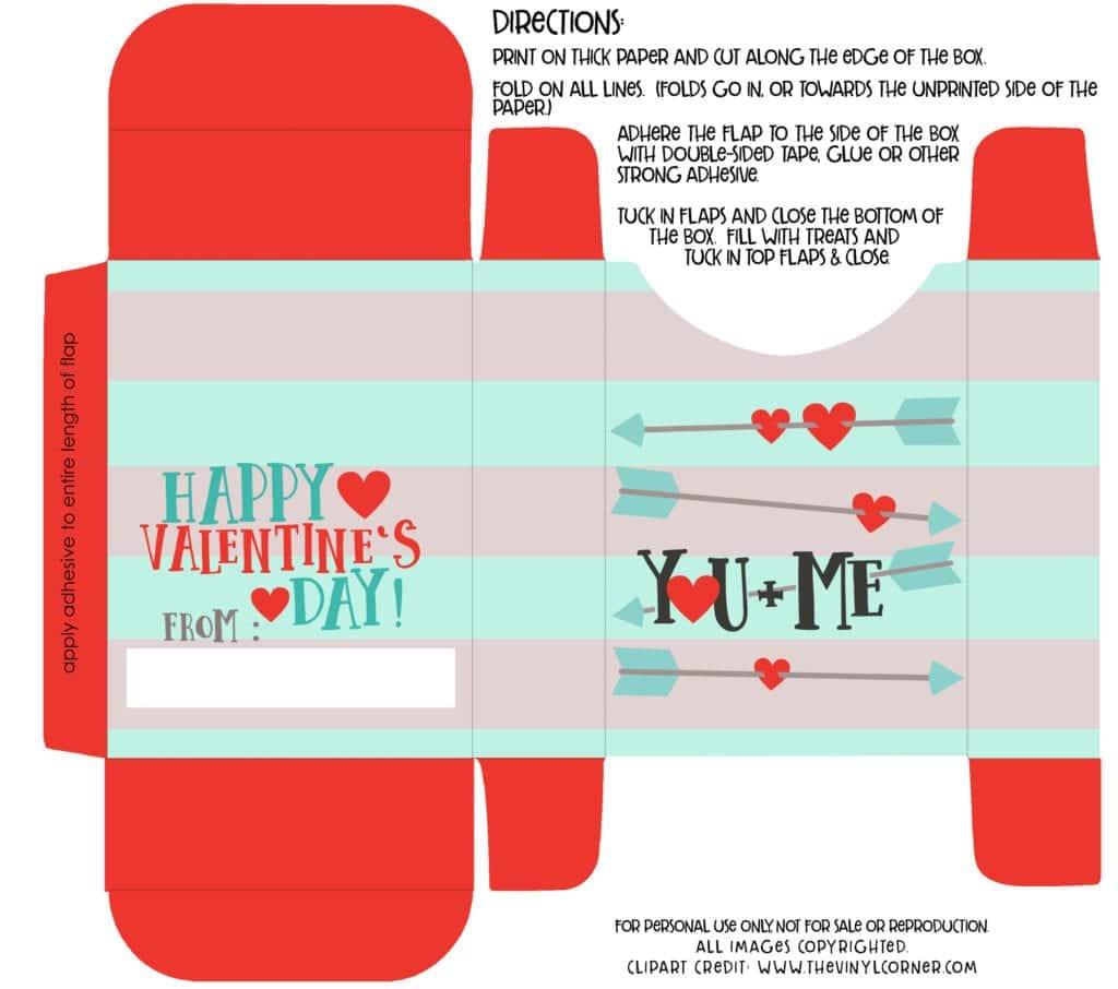 Diy Valentine Box With Free Printable