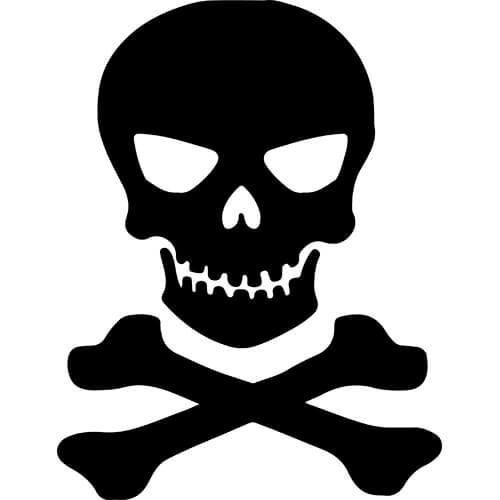Skull Crossbones Decal Sticker Skull Crossbones Thriftysigns