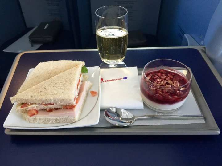 Lunch Sandwich and Yogurt (Champagne of course)