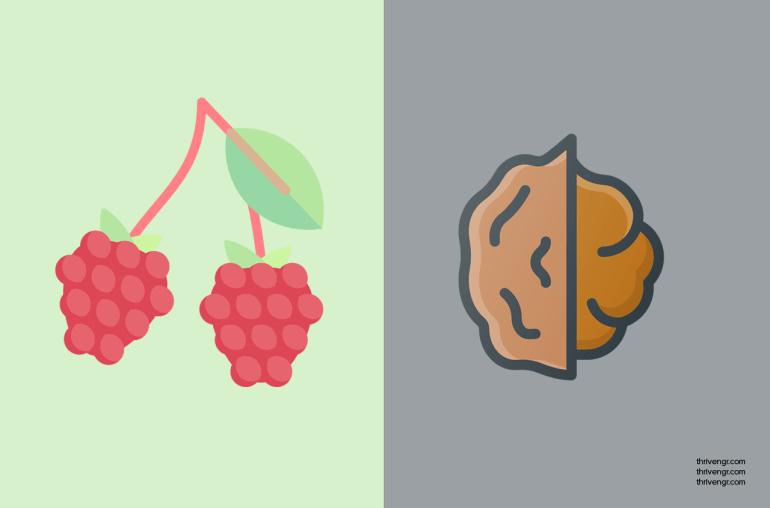 Raspberries + Walnuts