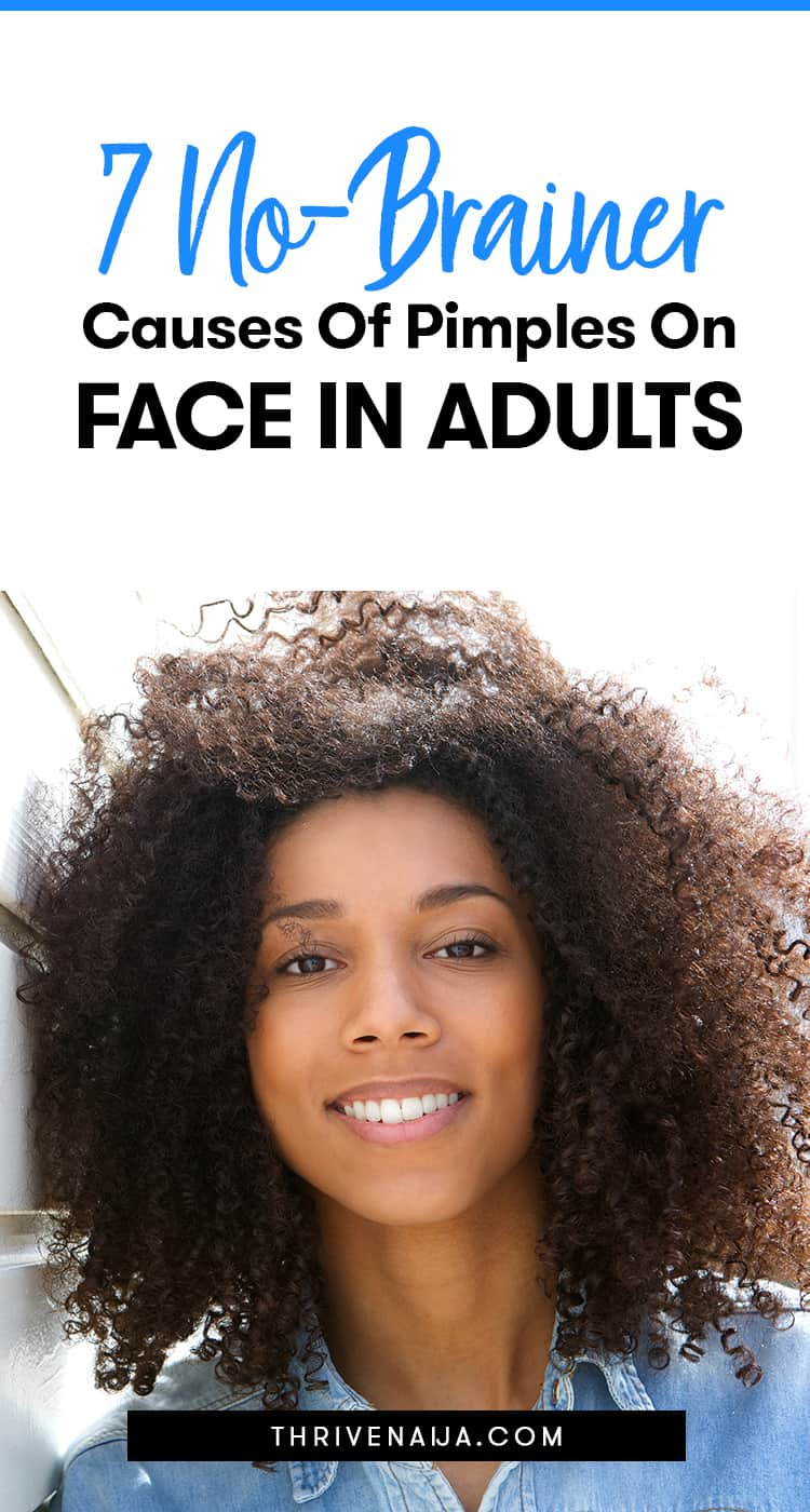 causes of pimples on face in adults