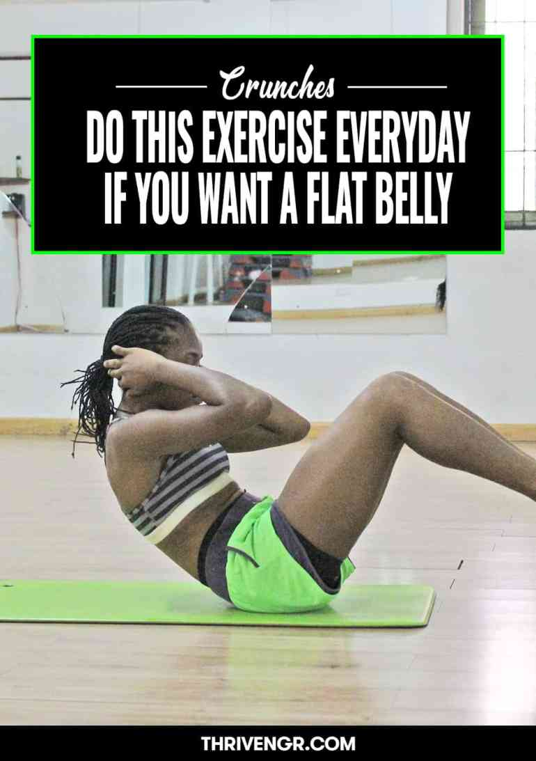 crunches for flat belly