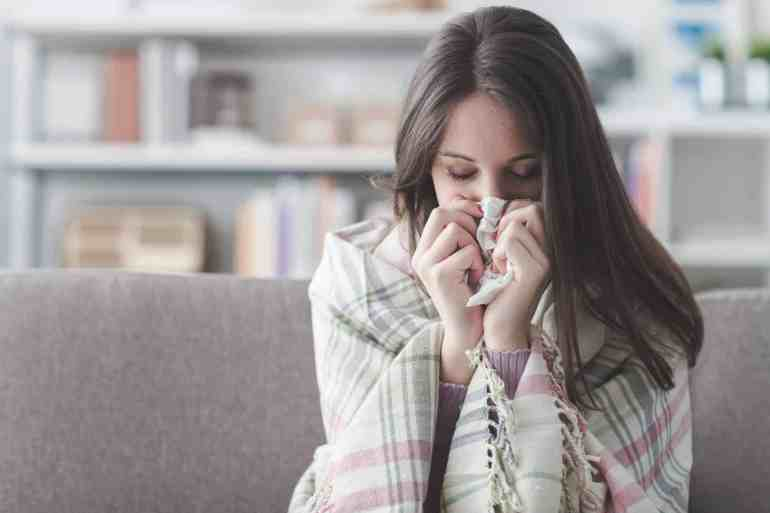 Sick with flu