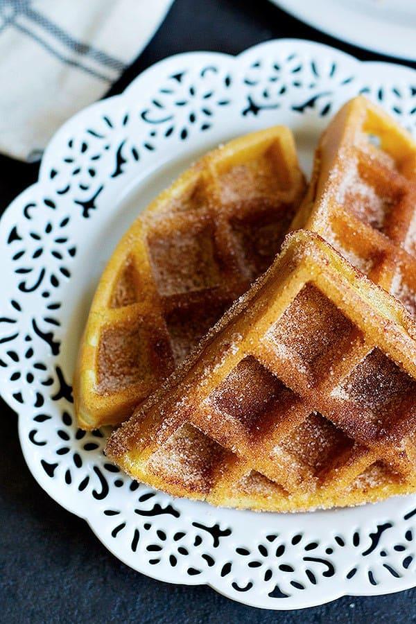 Churro Belgian Waffle Recipe