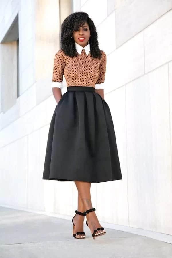 long flay skirt