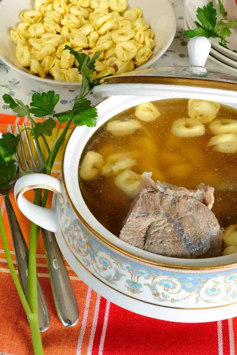 tortellini in meat broth