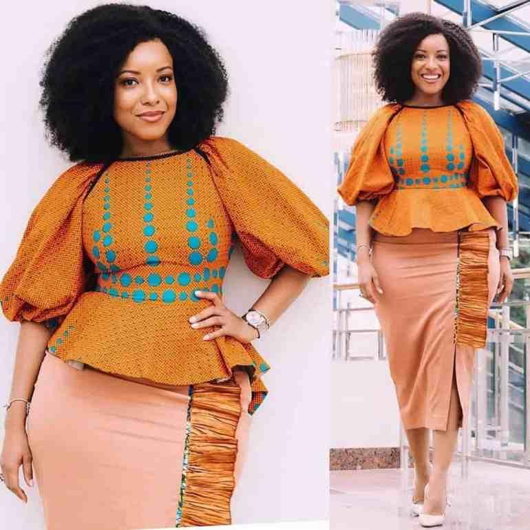 Ankara skirt and blouse