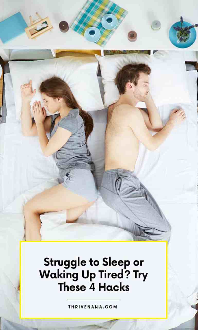 Struggling to sleep? Try these 4 easy hacks