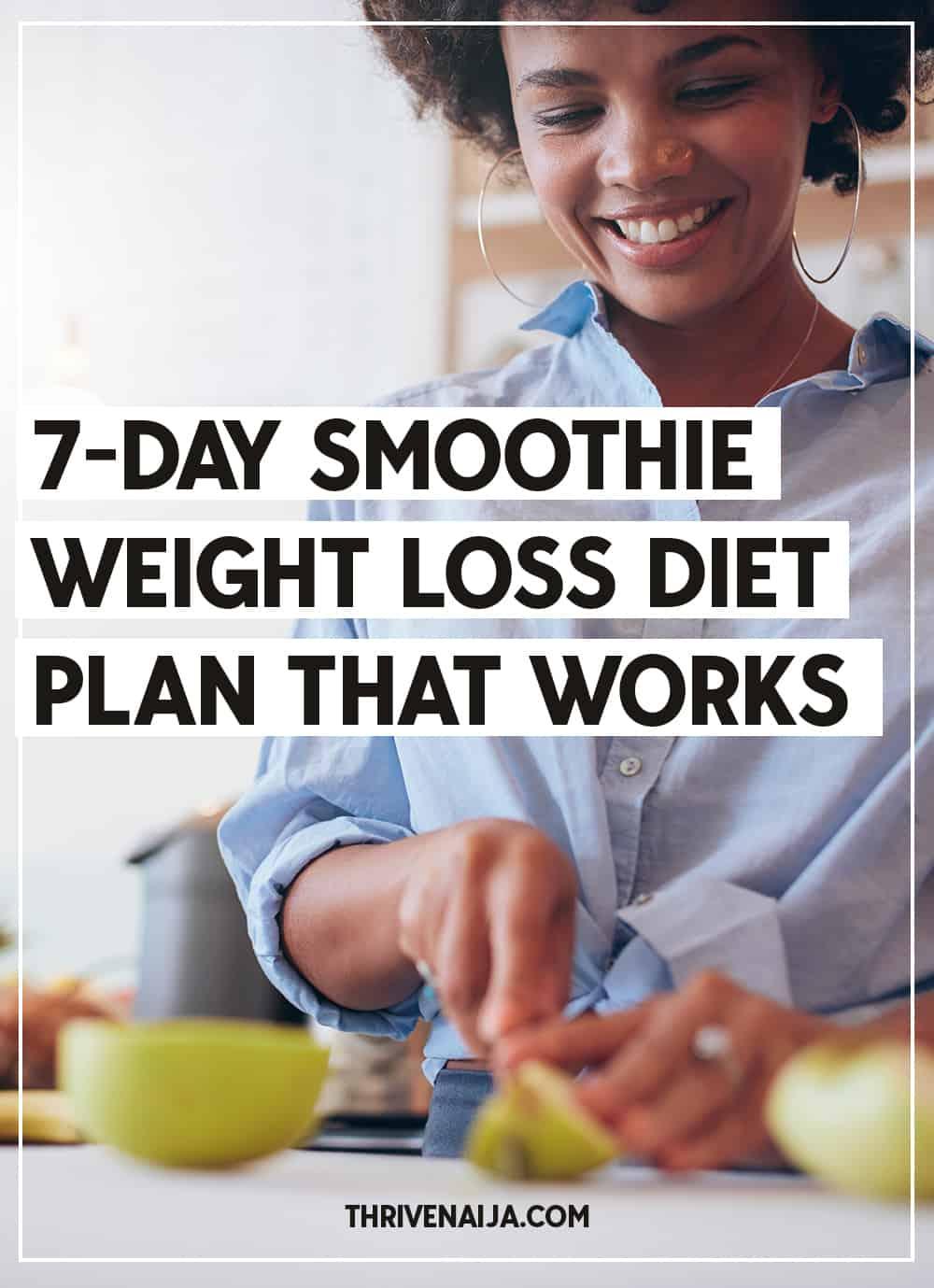 7 day smoothie #weightloss plan
