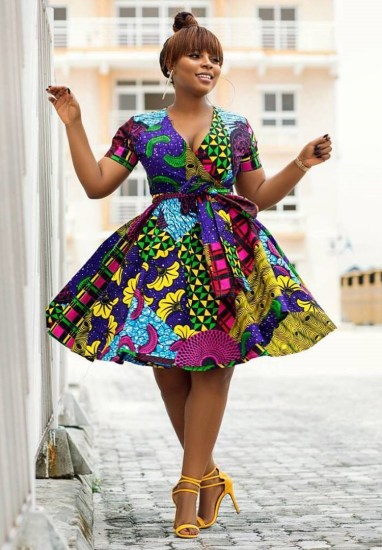 120 Ankara Short Gown Styles Designs 2020 | ThriveNaija