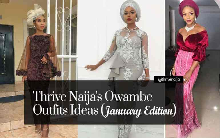 owambe outfit ideas thrivenaija january edition