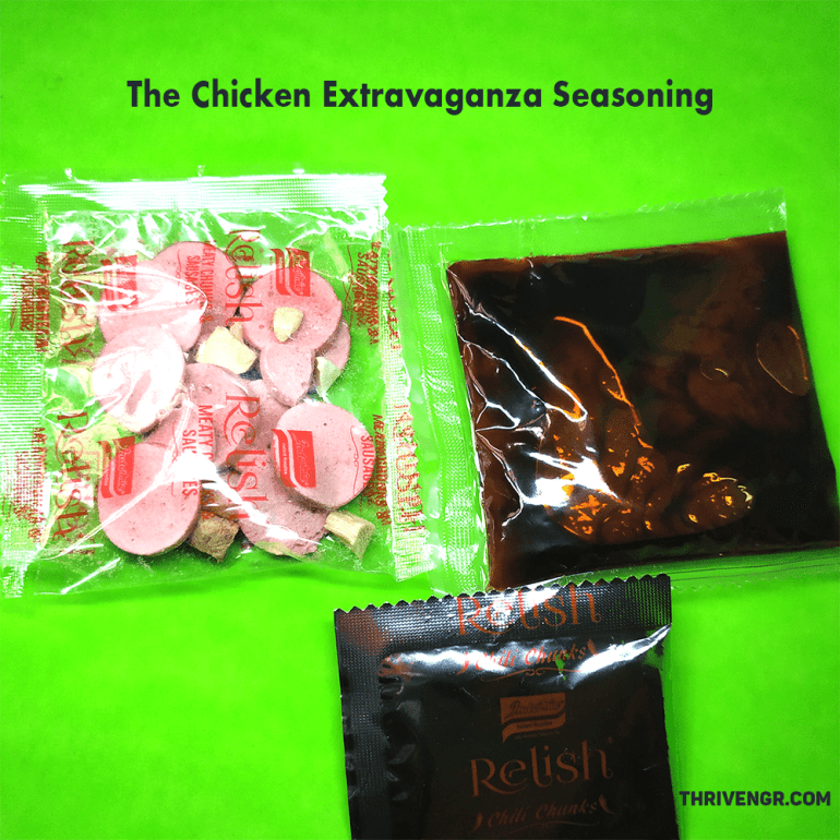The Chicken Extravaganza seasoning packs