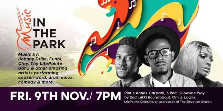 Music in the park event, Lagos