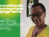 Image of Neffera Ba Aanaqtat Rayaytat with caption on a green and yellow aura background: Sarcoidosis, Fibromyalgia & Sjogren's: Healing Remission Story