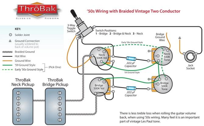 throbak 50's 2 conductor wiring  throbak