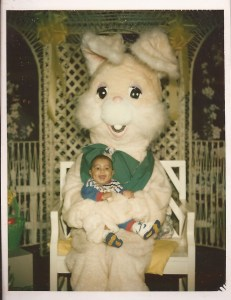 Dusty and easter bunny