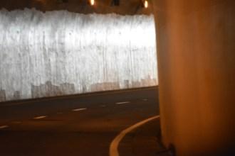 inside a tunnel