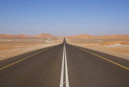Empty desert road