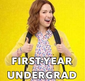 throwcase first year undergrad kimmy schmidt
