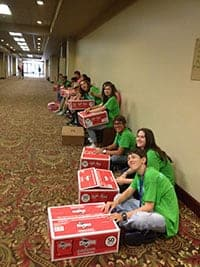 Teen Staff lunch delivery team at THSC Convention