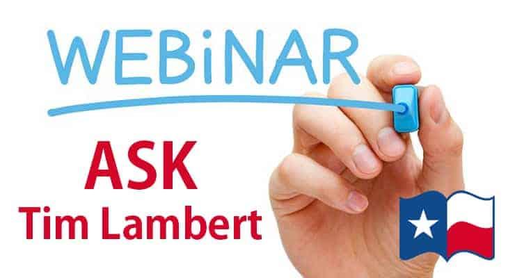 Webinar - Ask Tim Lambert