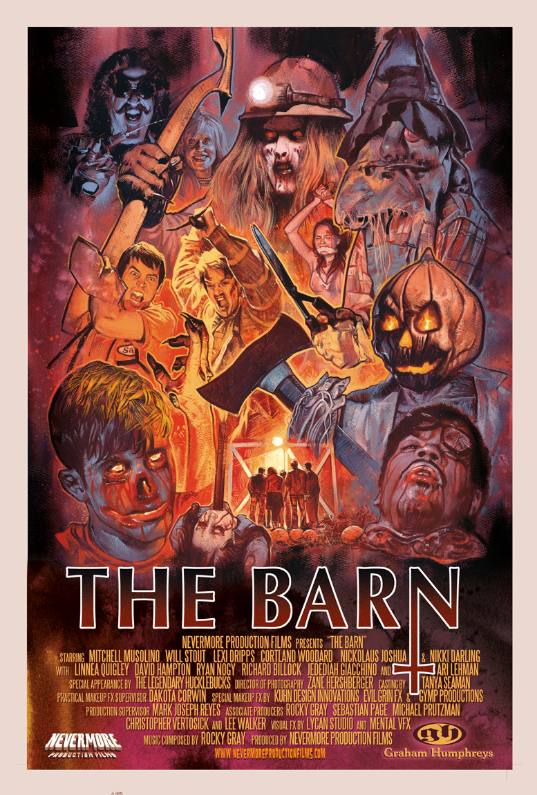 exclusive: artwork for the barn blu ray basks in the horrors of the