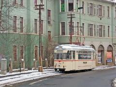 TW 47 stilecht auf der ehemaligen Linie 3. (29. Januar 2005)