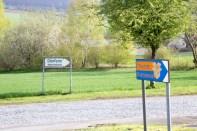 Wegweiser auf die Betriebe auf dem ehemaligen Humboldt-Gelände