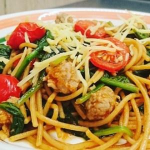 Pasta Italiana met spinazie