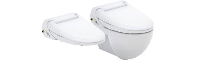 Compleet douchetoilet of een opzetzitting