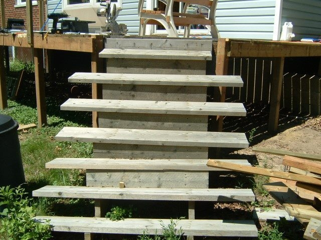 Installing New Deck Stairs Thumb And Hammer | Pressure Treated Stair Treads | Wide | 3 Ft | Picture Frame | Glue Block | Deck