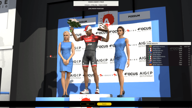 Pro Cycling Manager 2017 - on the podium