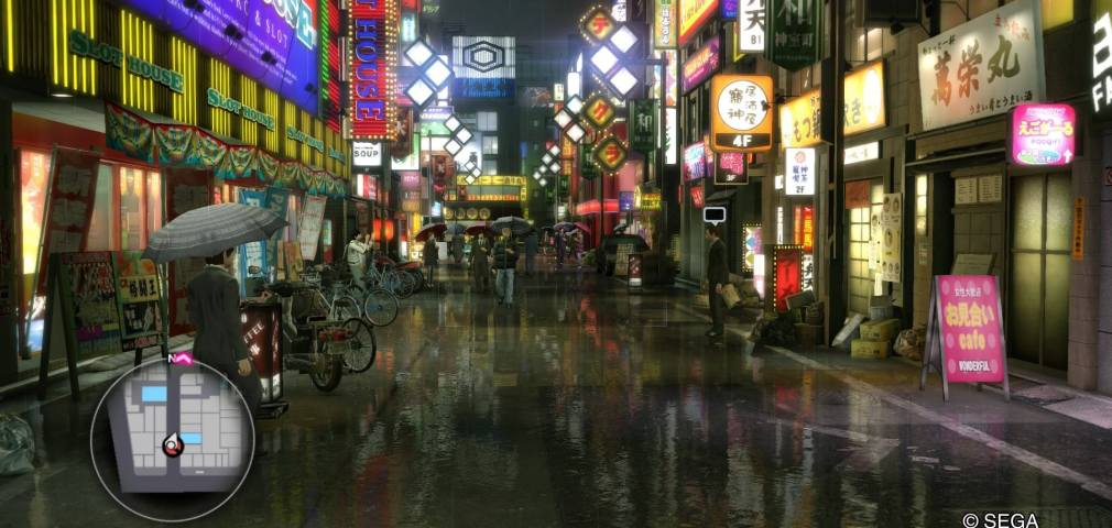 Yakuza Kiwami PS4 Main Street Setting