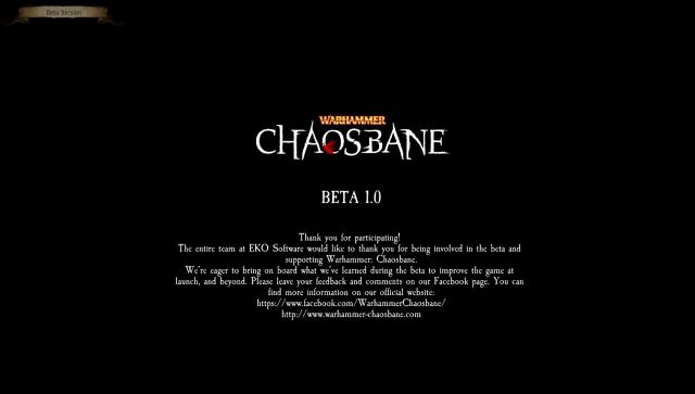 Warhammer Chaosbane Beta