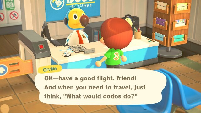 Animal Crossing: New Horizons. The airport.