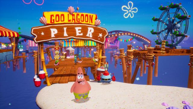 SpongeBob SquarePants: The Battle for Bikini Bottom - Re-hydrated. Patrick at the Goo Lagoon Pier.