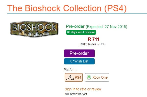 BioShock Collection screen grab