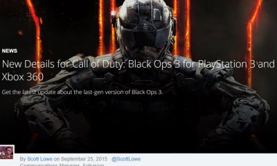 no Call of Duty: Black Ops III single-player campaign on PS3 or Xbox 360