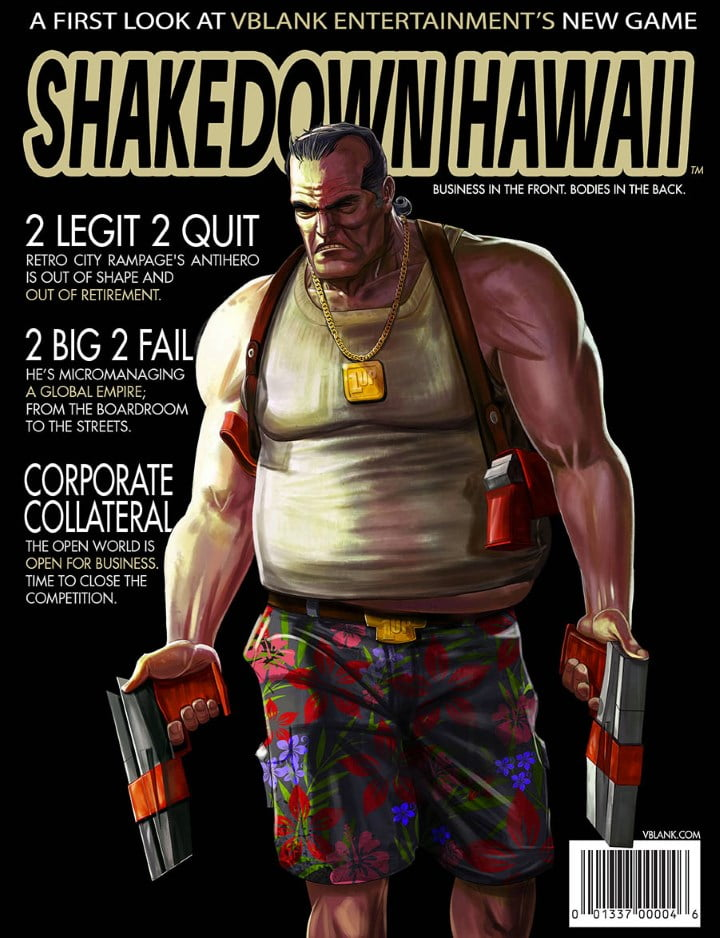Shakedown Hawaii magazine art