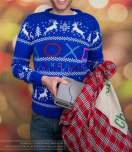 Best gaming Christmas Jumpers – blue PlayStation 01