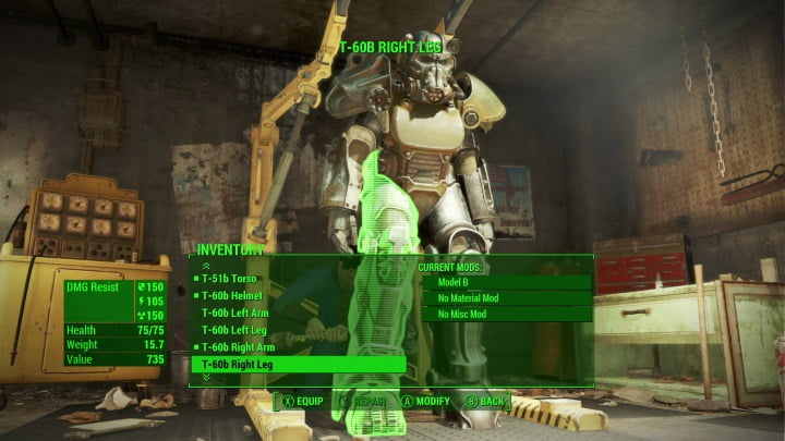 Fallout 4 tips - Power Armour mods