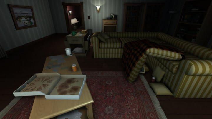 Gone Home living room screenshot
