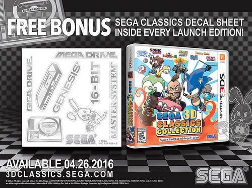 Sega Classics Collection Decals