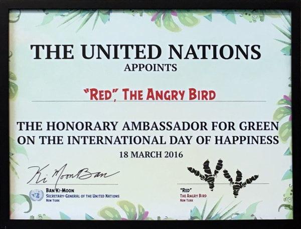 Angry Birds UN Ambassador