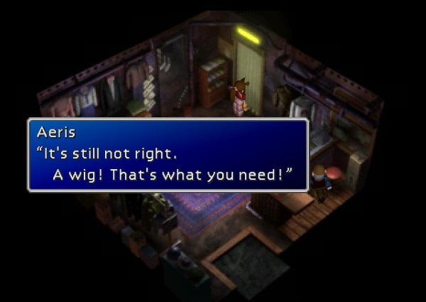 Final Fantasy VII Cloud wig