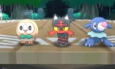 Starter Pokemon for Sun and Moon